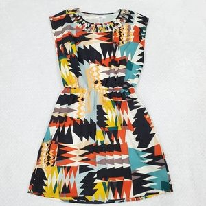 Bar III Multi Color Geometric Print Dress/ Size XS